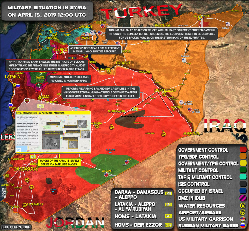 Military Situation In Syria On April 15, 2019 (Map Update)