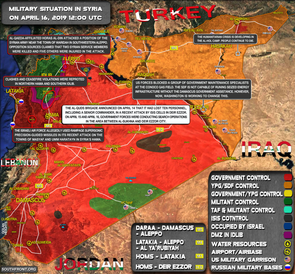 Military Situation In Syria On April 16, 2019 (Map Update)
