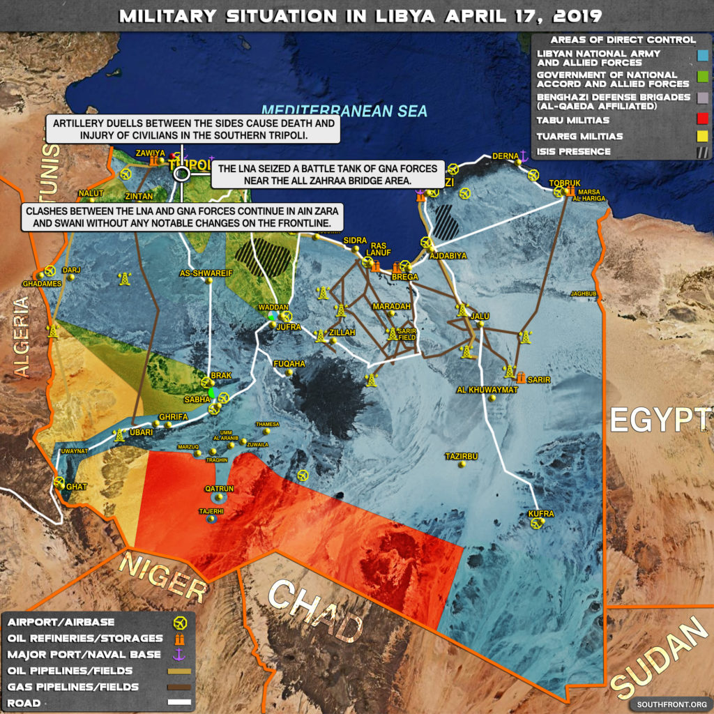 Military Situation In Libya On April 17, 2019 (Map Update)