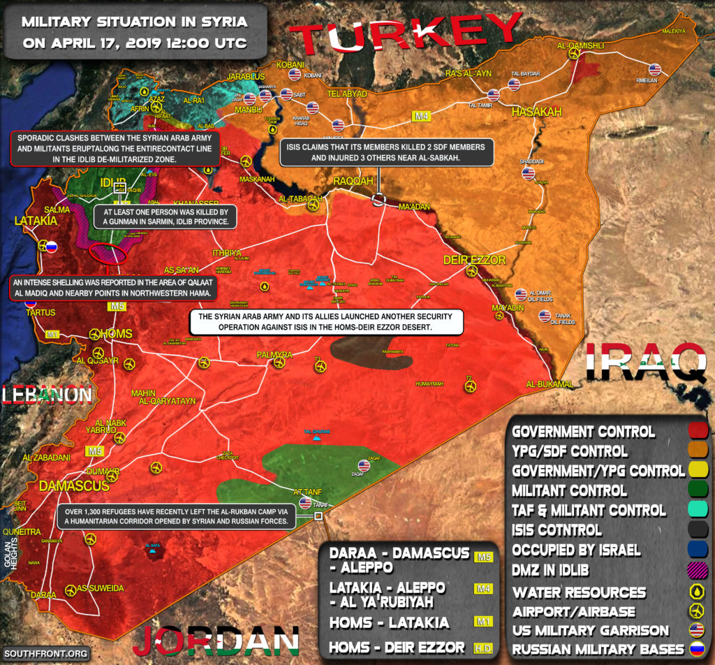 Military Situation In Syria On April 17, 2019 (Map Update)