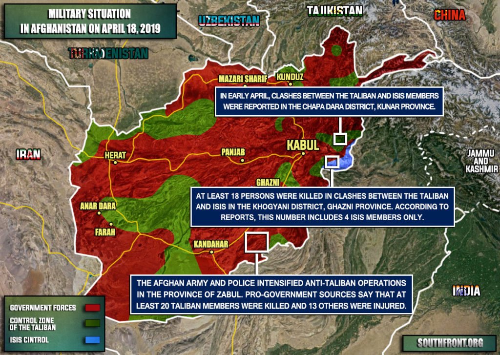 Military Situation In Afghanistan On April 18, 2019 (Map Update)