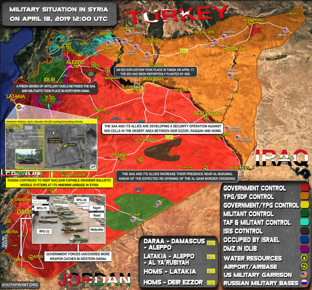 Military Situation In Syria On April 18, 2019 (Map Update)