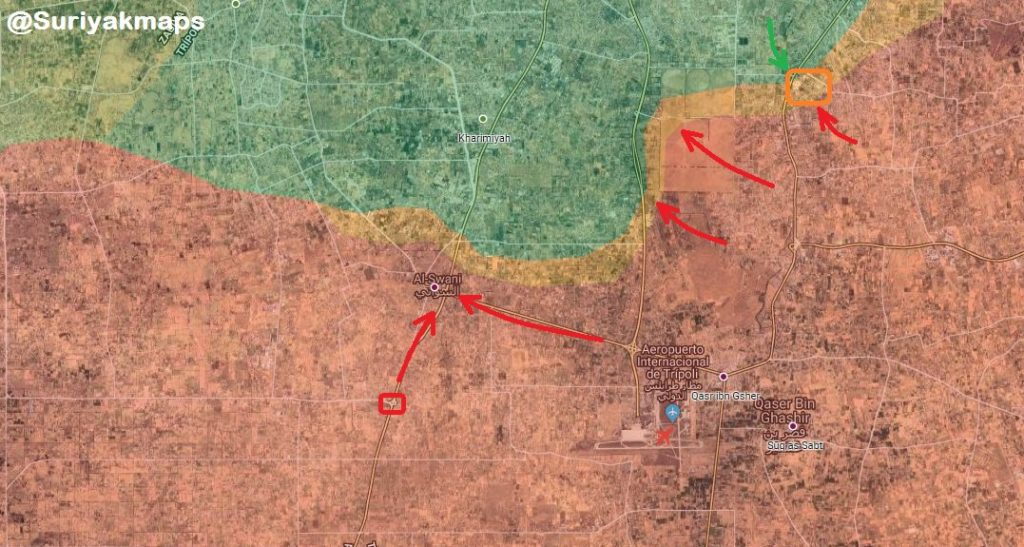 In Maps: Libyan National Army Once Again Enters al-Swani Reversing Gains Of GNA Militias
