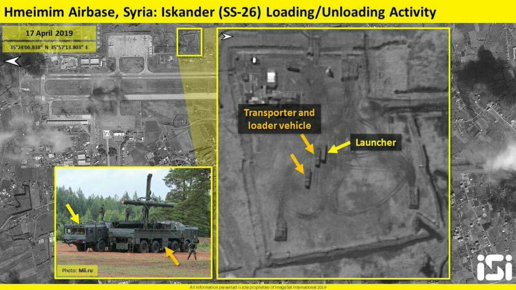 Satellite Image: Iskander Ballistic Missile System Deployed At Rusia's Hmeimim Airbase In Syria