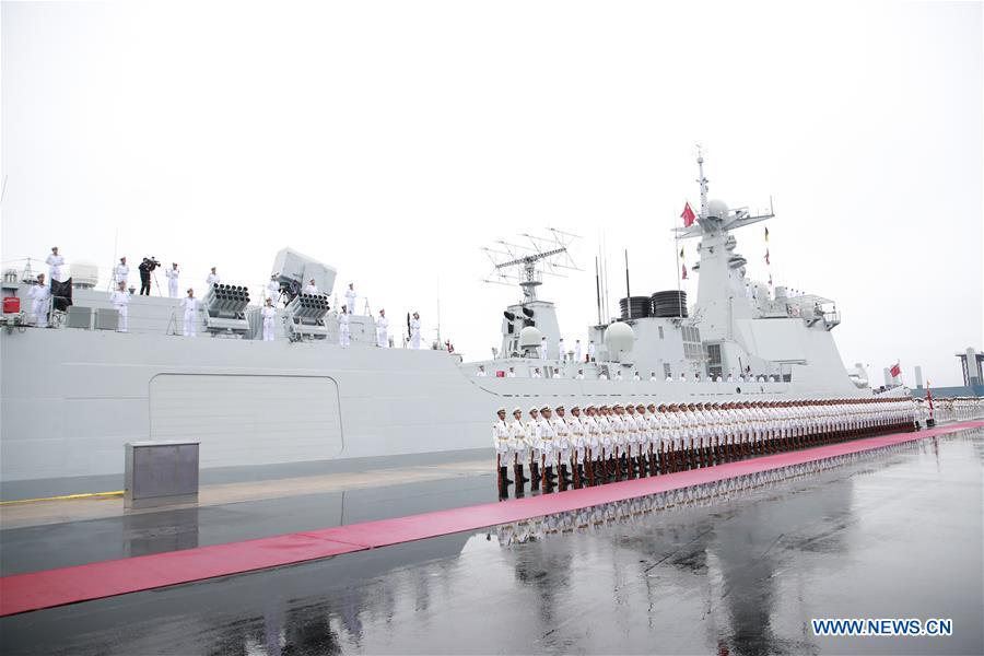 In Photos: Naval Oarade To Mark Chinese Navy's 70th Founding Anniversary