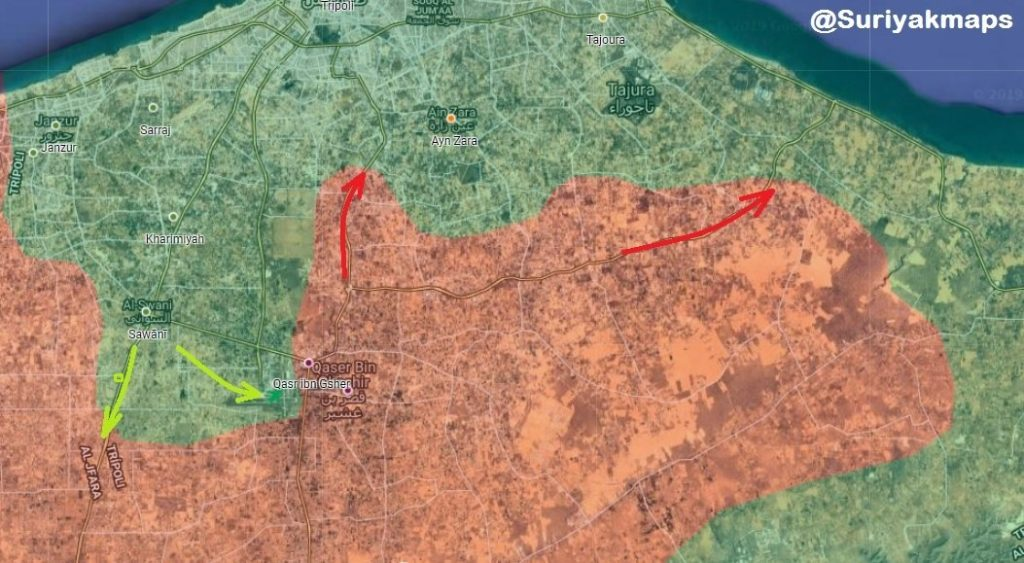 In Maps: Pro-GNA Forces Launch Counter-Attack In Attempt To Take Back Tripoli Airport