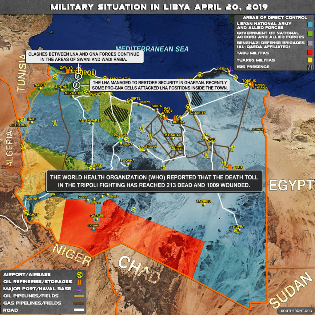 Military Situation In Libya On April 20, 2019 (Map Update)