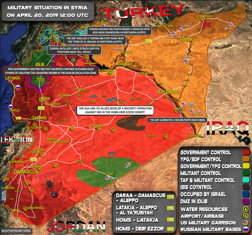 Military Situation In Syria On April 20, 2019 (Map Update)
