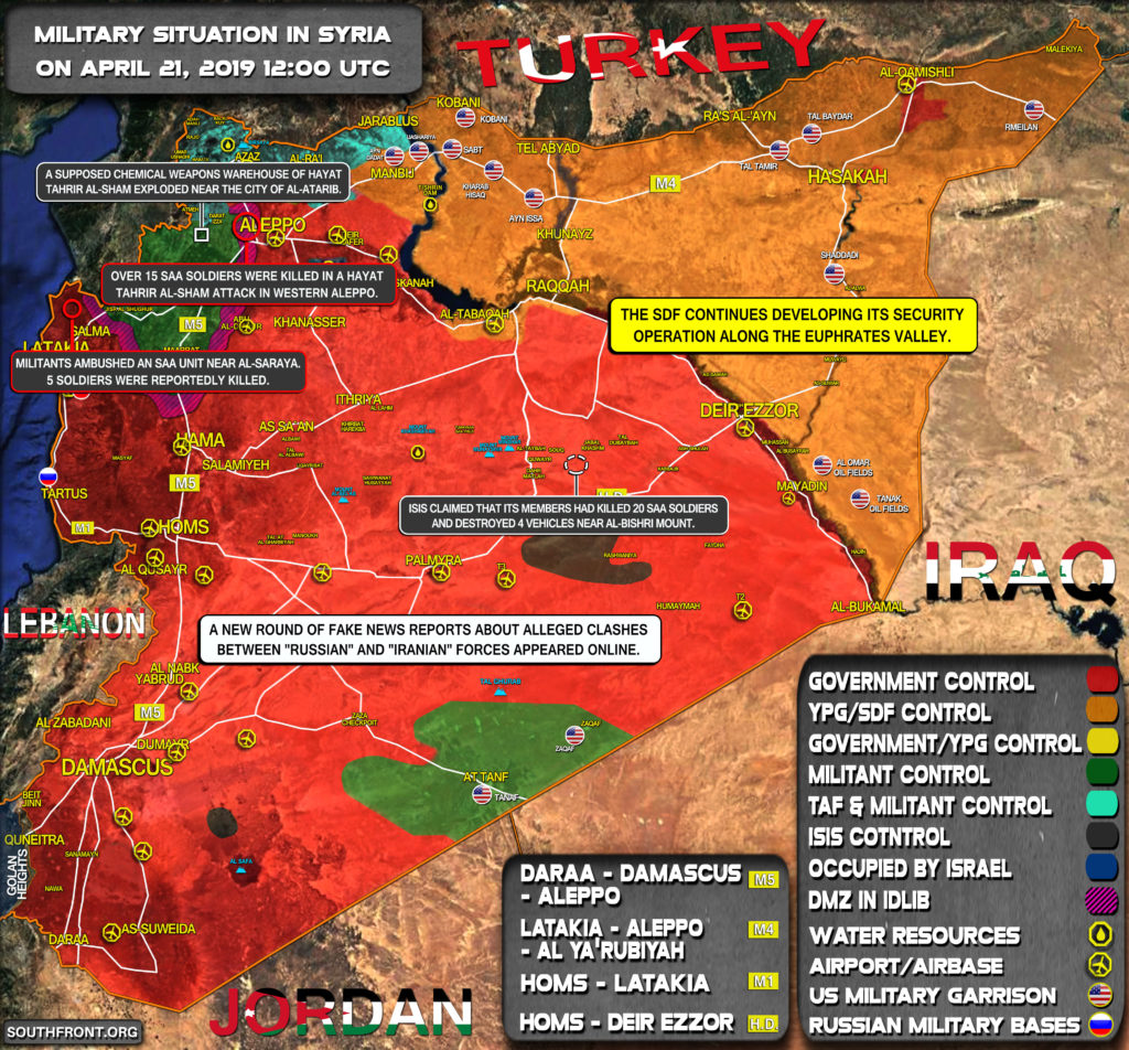 Military Situation In Syria On April 21, 2019 (Map Update)