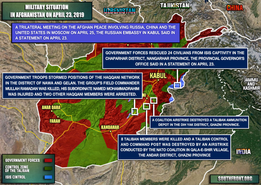 Military Situation In Afghanistan On April 23, 2019 (Map Update)