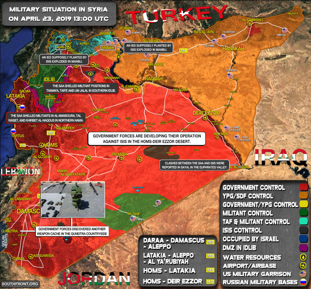 Military Situation In Syria On April 23, 2019 (Map Update)
