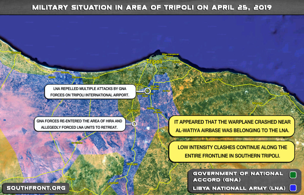 Map Update: Military Situation In Libya's Tripoli On April 25, 2019