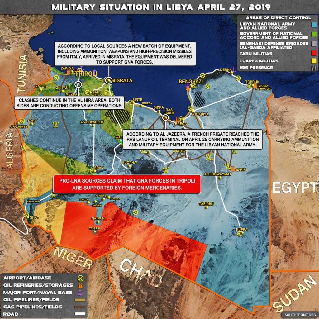 Military Situation In Libya On April 27, 2019 (Map Update)