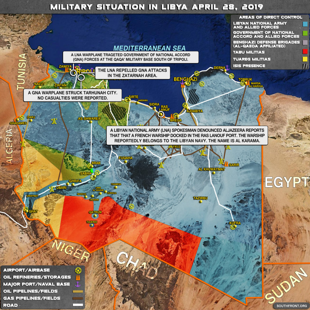 Military Situation In Libya On April 28, 2019 (Map Update)