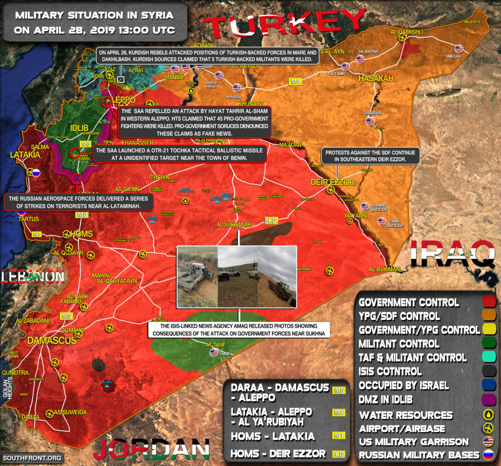 Military Situation In Syria On April 28, 2019 (Map Update)