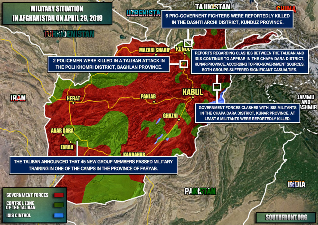 Military Situation In Afghanistan On April 29, 2019 (Map Update)