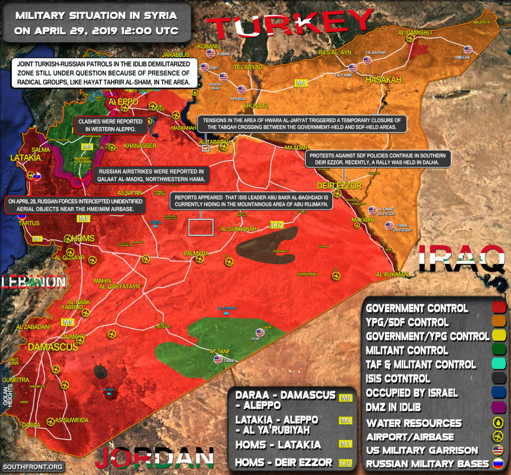 Military Situation In Syria On April 29, 2019 (Map Update)