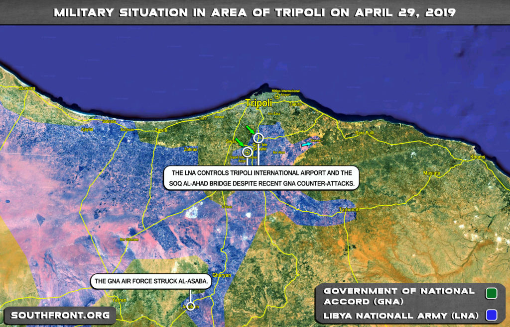 Military Situation In Area Of Tripoli On April 29, 2019 (Map Update)