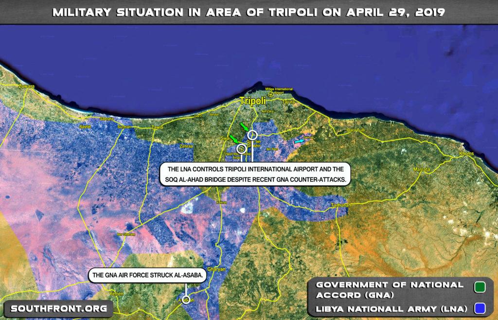 Vojenská Situácia V Oblasti Tripolisu Na Apríl 29, 2019 (Aktualizácia Máp)