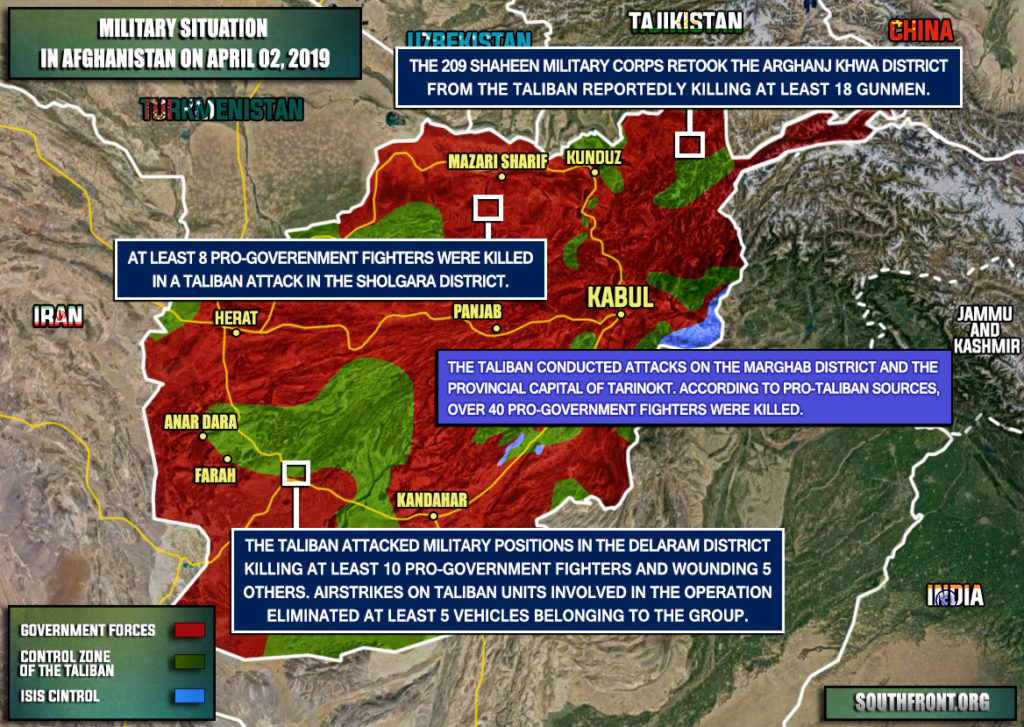 Military Situation In Afghanistan On April 2, 2019 (Map Update)