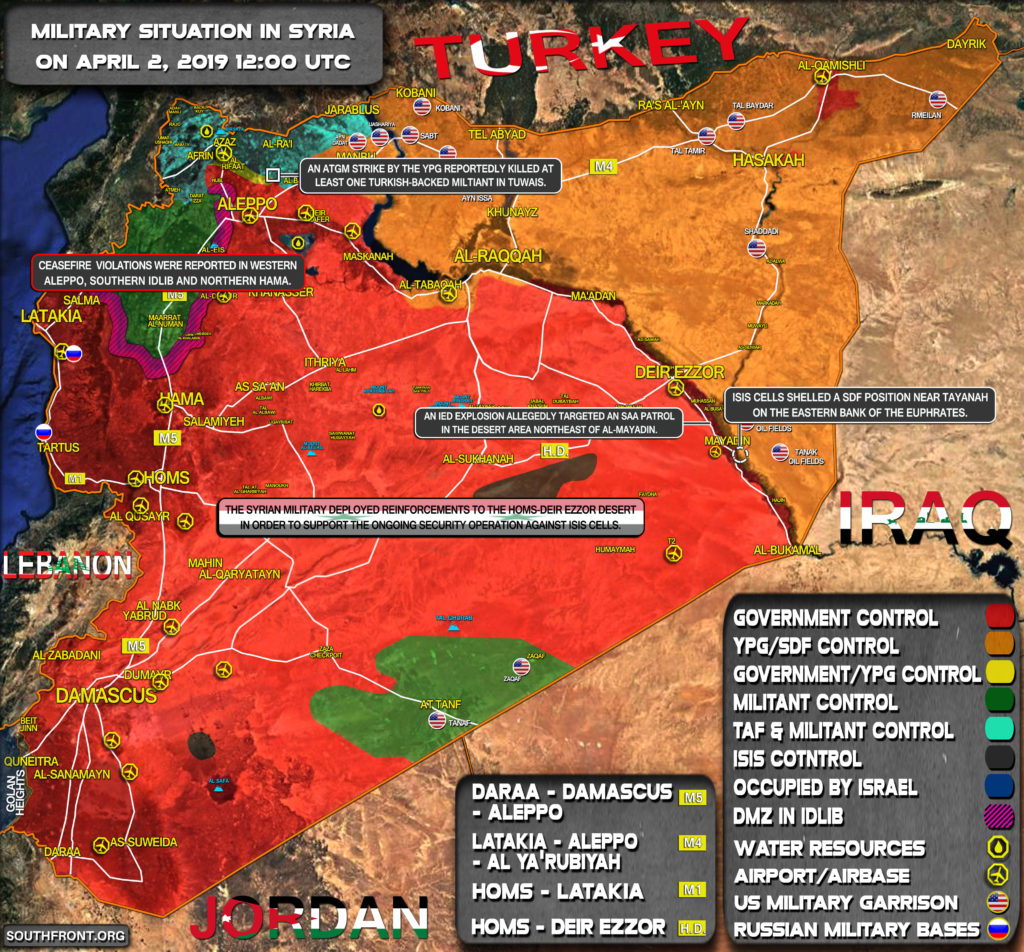 Military Situation In Syria On April 2, 2019 (Map Update)
