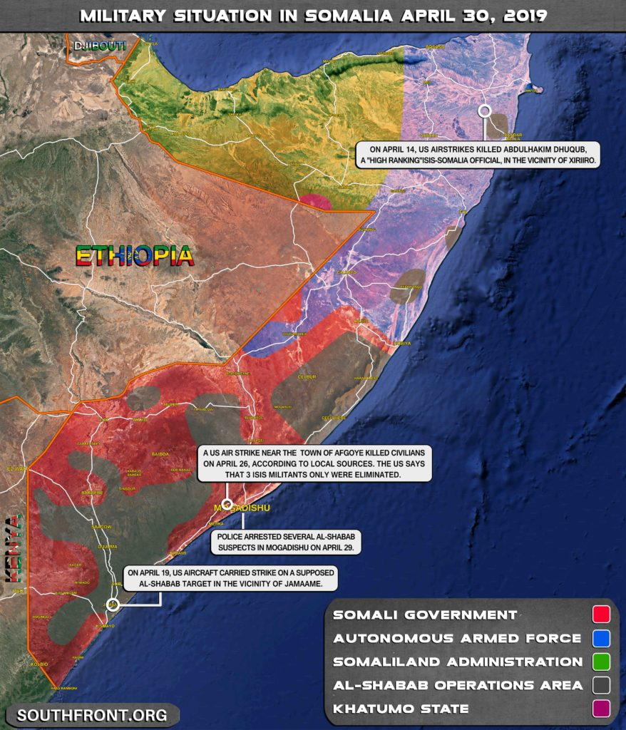Military Situation In Somalia On April 30, 2019 (Map Update)