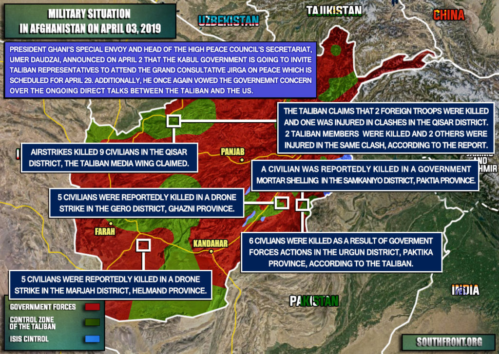 Military Situation In Afghanistan On April 3, 2019 (Map Update)