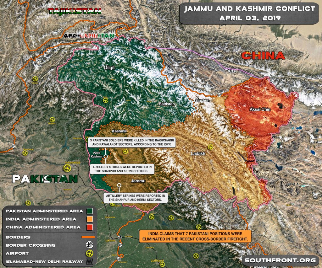 Map Update: Firefights And Artillery Duels Between Indian And Pakistani Forces In Kashmir Region