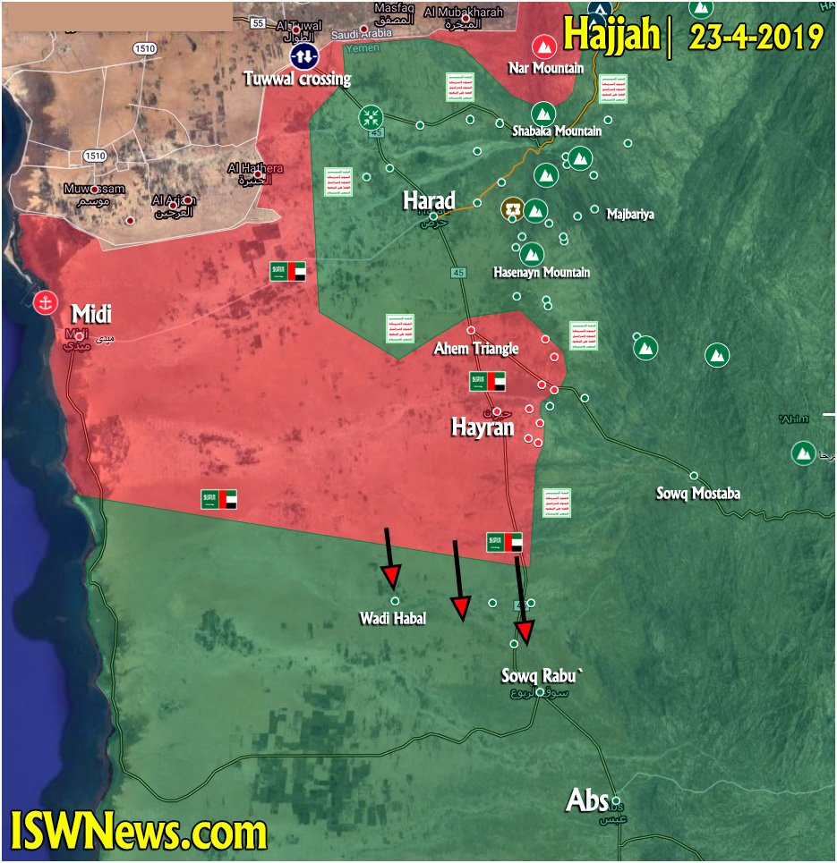 Yemen Map Update: Military Situation In Baydha, Dhale, Hudaydah, Hajjah, Saadah, Al Jawf Areas