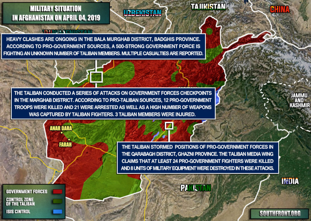 Military Situation In Afghanistan On April 4, 2019 (Map Update)