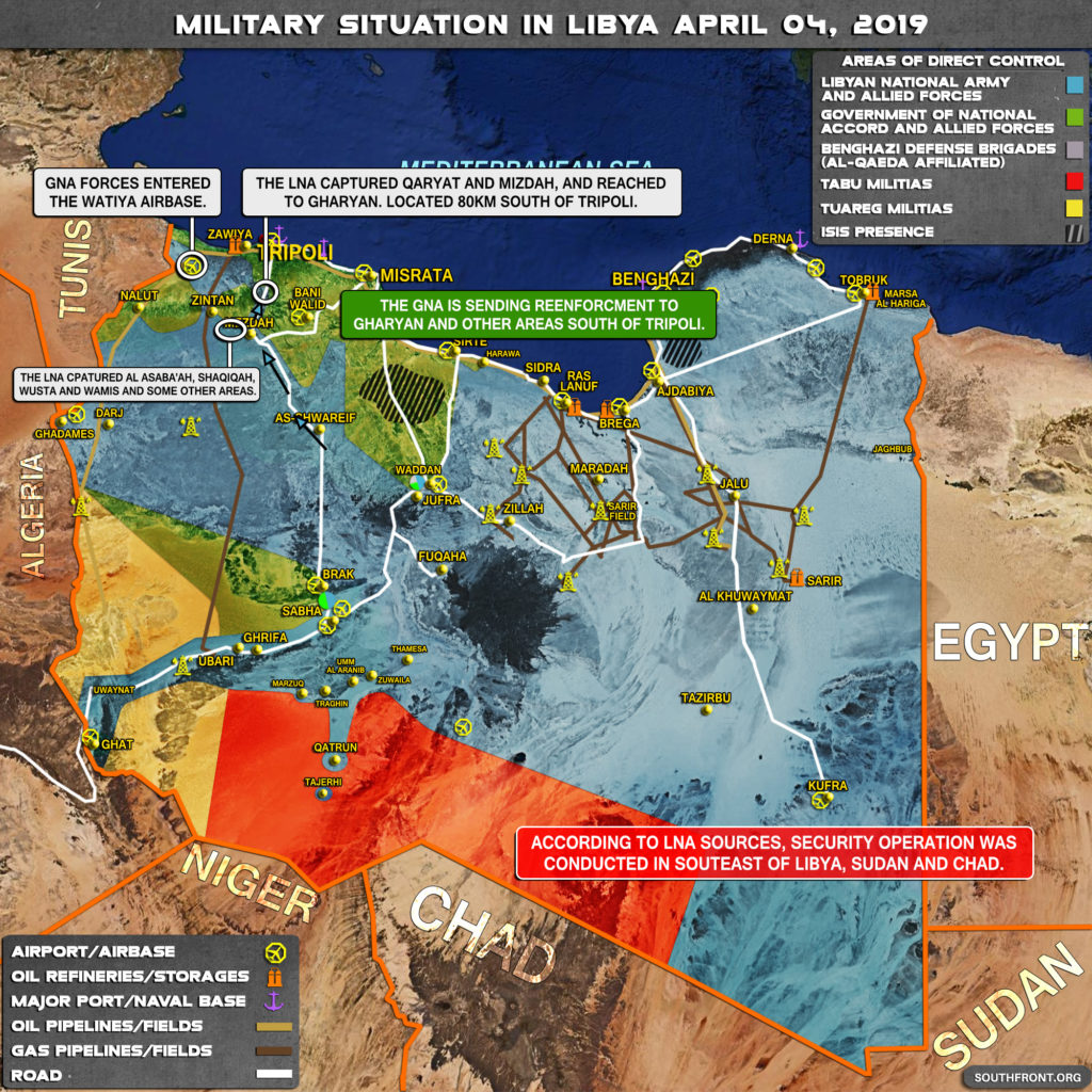 Military Situation In Libya On April 4, 2019 (Map Update)