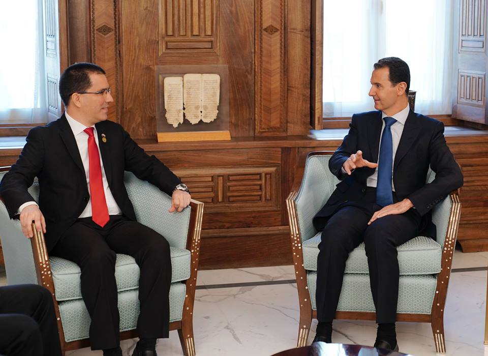 Assad Meets Venezuela's Foreign Minister, Says Venezuela And Syria Are Facing Similar Attacks