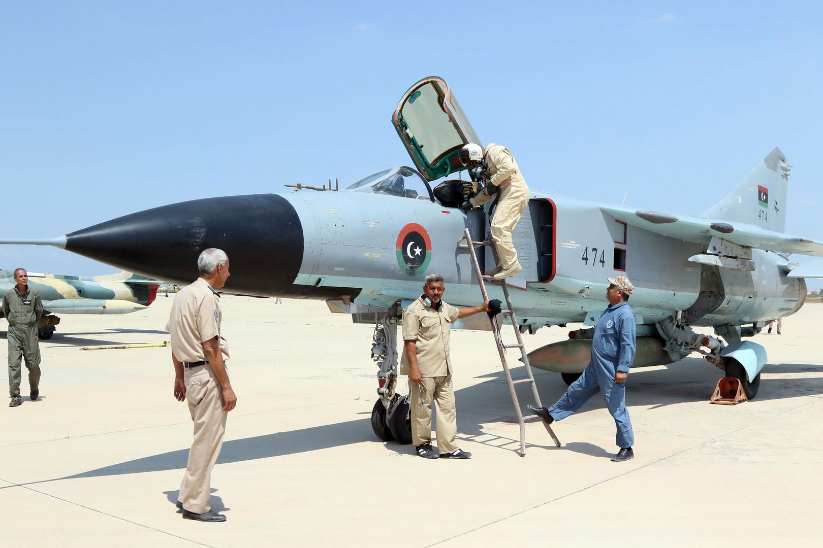 LGNA Warplanes Strike Haftar Forces South Of Tripoli