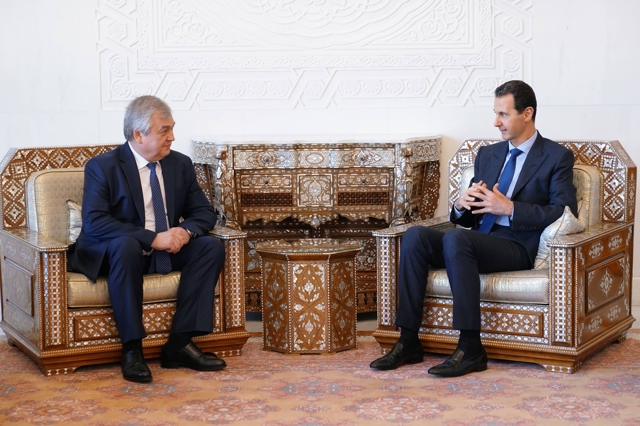 "Senior Russian Delegation Meets With Assad, Conveys ""Positive"" Saudi Initiative"