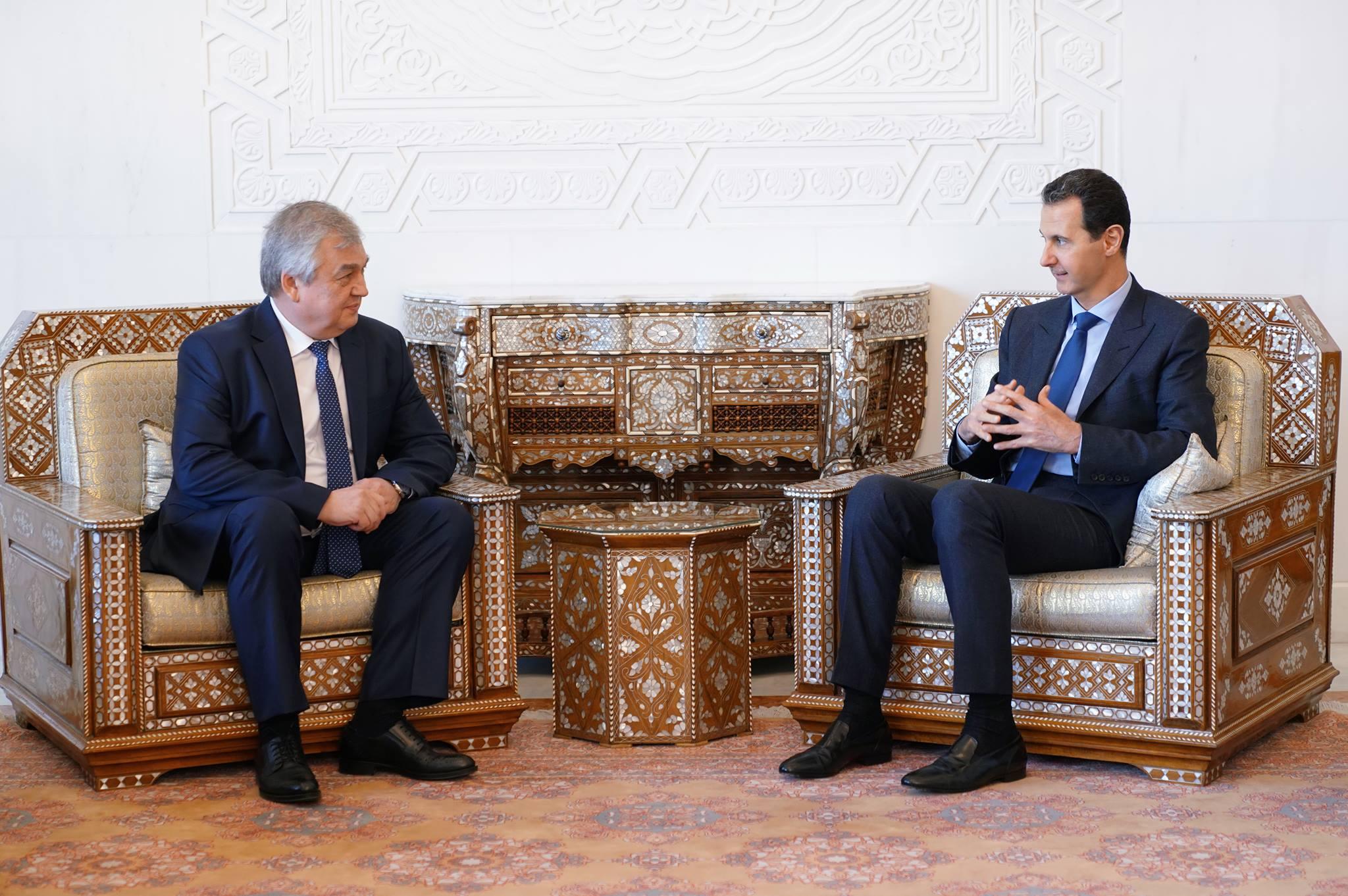 "Senior Russian Delegation Meets With Assad, Conveys ""Positive"" Saudi Initiative"