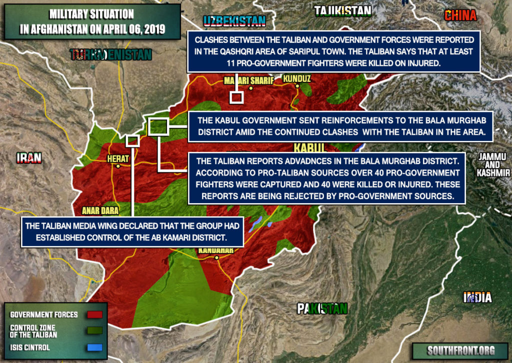 Military Situation In Afghanistan On April 6, 2019 (Map Update)