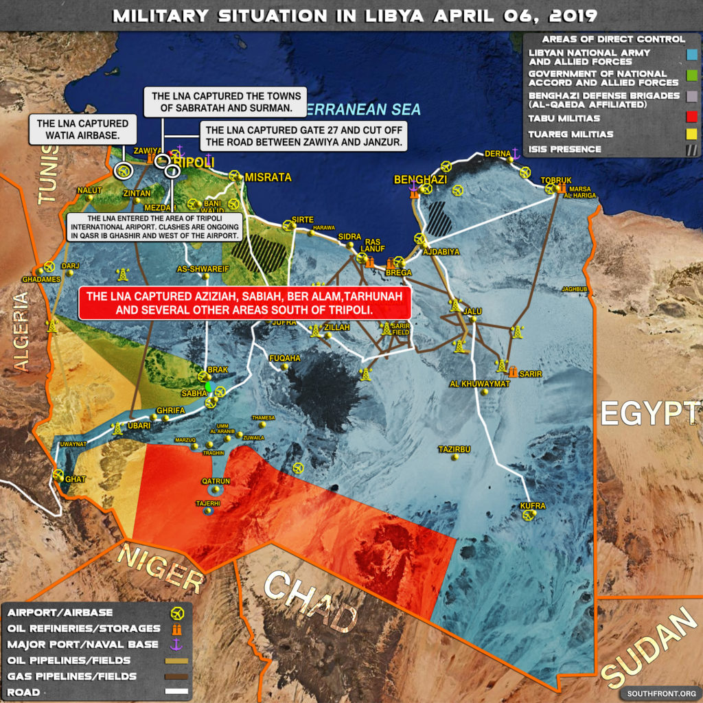 Military Situation In Libya On April 6, 2019 (Map Update)