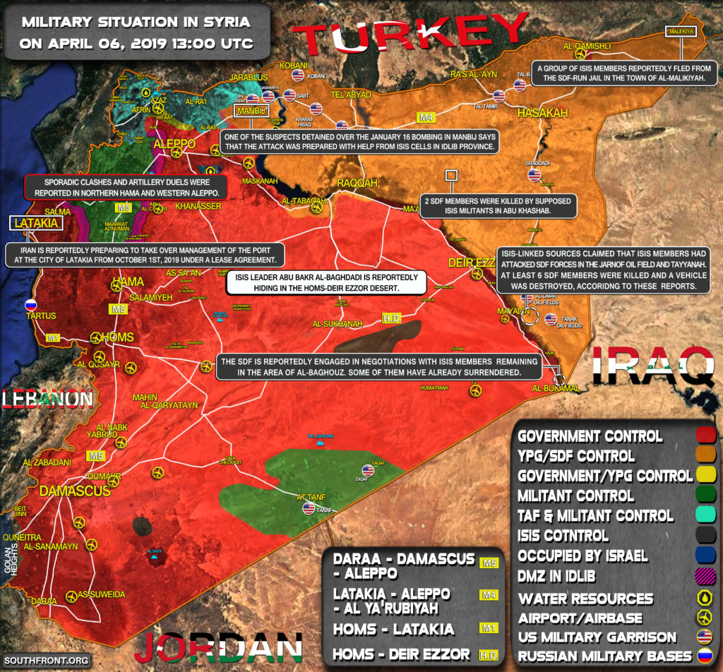 Military Situation In Syria On April 6, 2019 (Map Update)