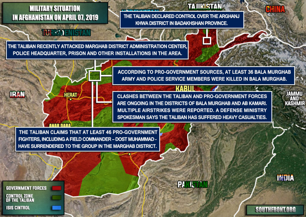 Military Situation In Afghanistan On April 7, 2019 (Map Update)