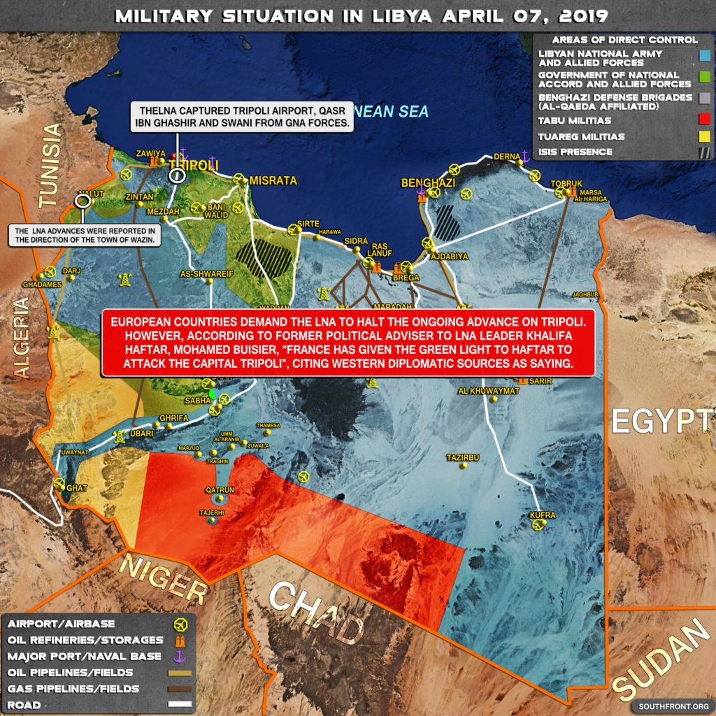 Libyan National Army Advances On Tripoli Despite 'International Community' Calls For 'Peace'