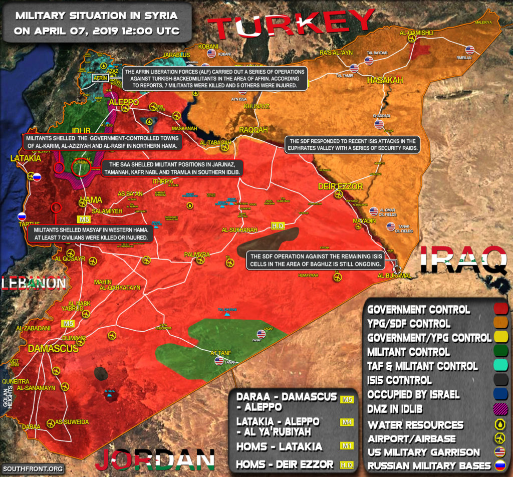 Military Situation In Syria On April 7, 2019 (Map Update)