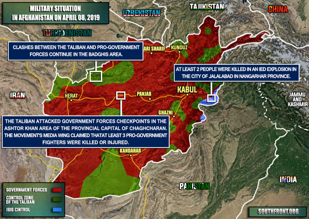 Military Situation In Afghanistan On April 8, 2019 (Map Update)