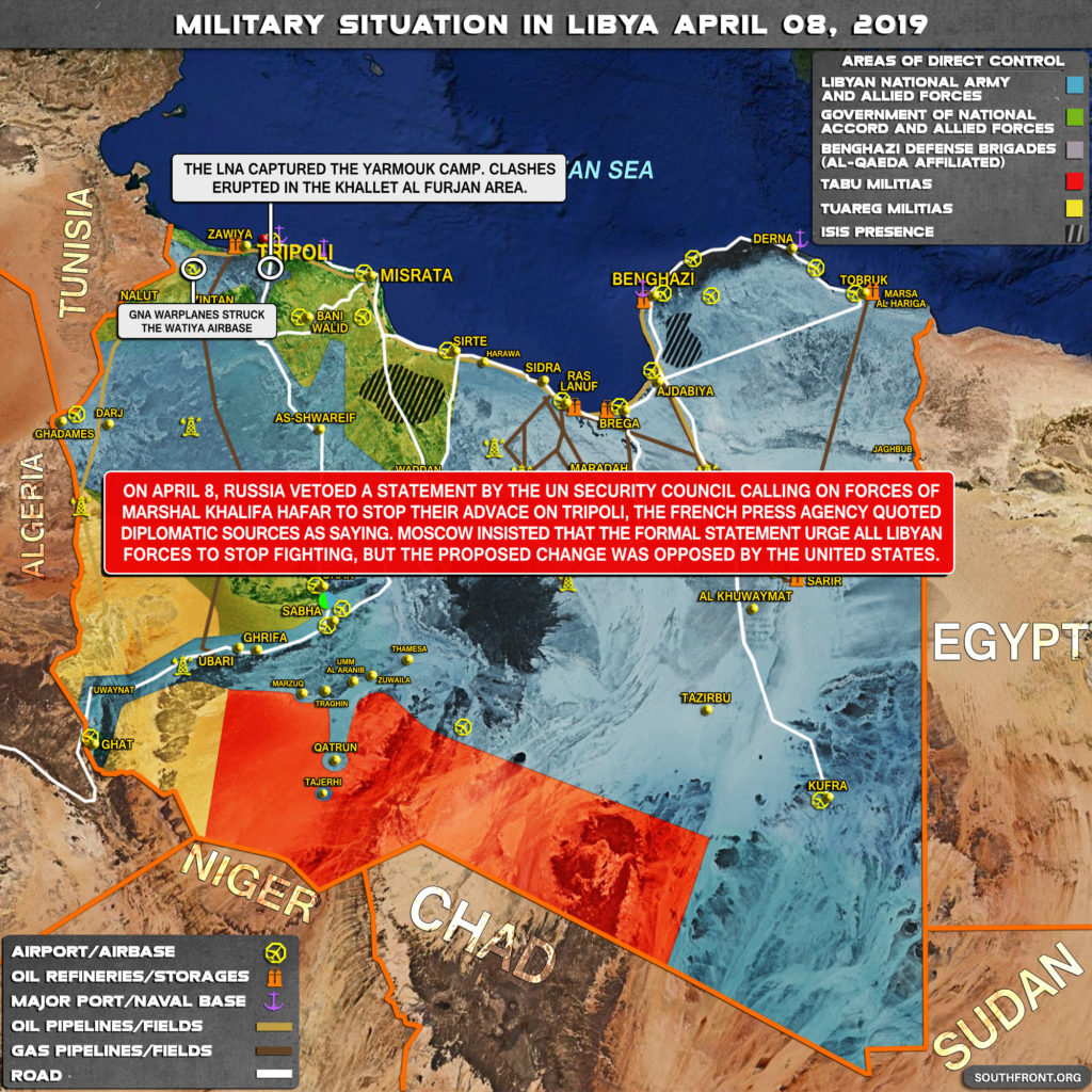 Military Situation In Libya On April 8, 2019 (Map Update)