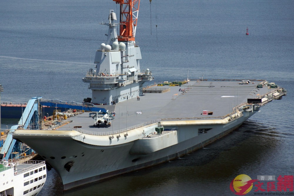 In Photos: China's First Domestically-Built Aircraft Carrier In Dalian