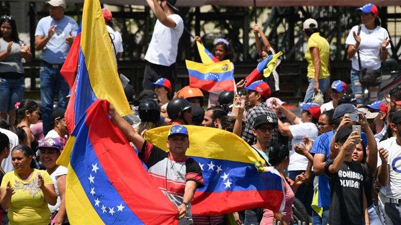 Competing Protests In Venezuela. US Imposes Further Sanctions On Country's State Oil Company