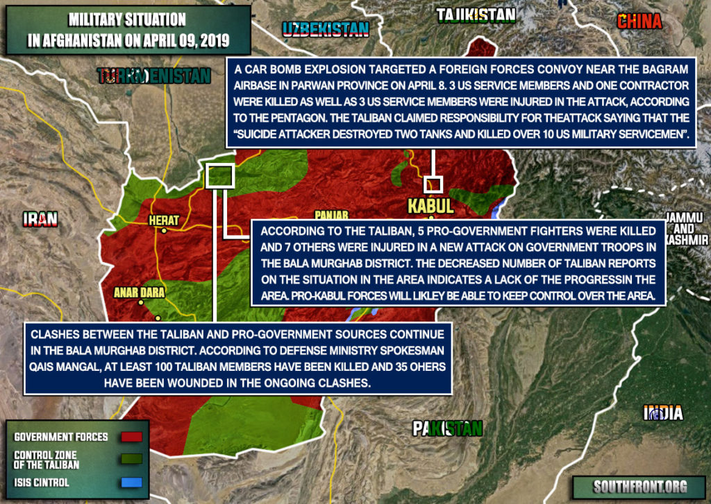 Military Situation In Afghanistan On April 9, 2019 (Map Update)
