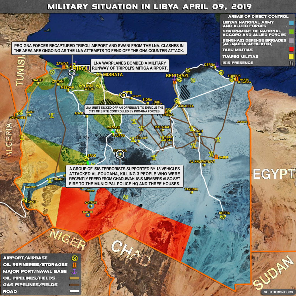 Military Situation In Libya On April 9, 2019 (Map Update)