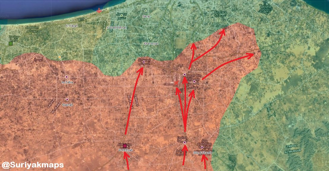 Haftar's Blitzkrieg: Libyan National Army Reached Tripoli Airport (Map)