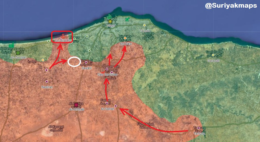 Libyan National Army Reaches Tripoli's Outskirt (Map)