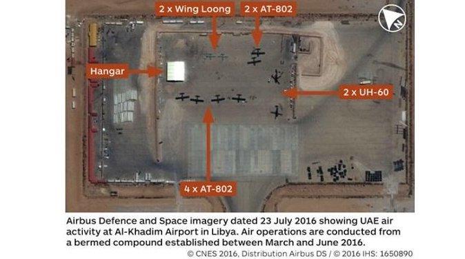 Une nouvelle photo montre un drone de combat entièrement armé des Émirats arabes unis au-dessus de la Libye